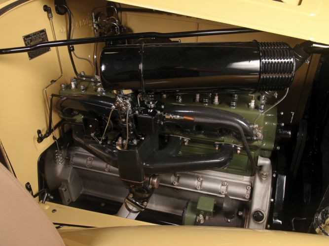 1934 Packard Eight Convertible Victoria luxury retro engine engines r wallpaper