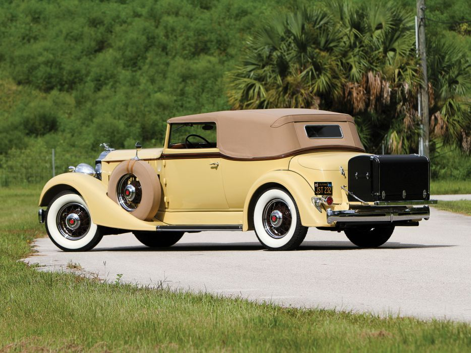 1934 Packard Eight Convertible Victoria luxury retro   g wallpaper