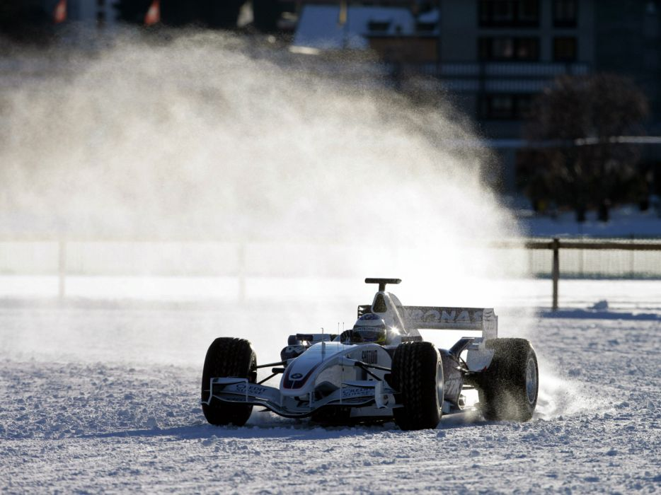 2007 BMW Sauber F1-07 formula one formula-1 f-1 race racing snow winter    f wallpaper