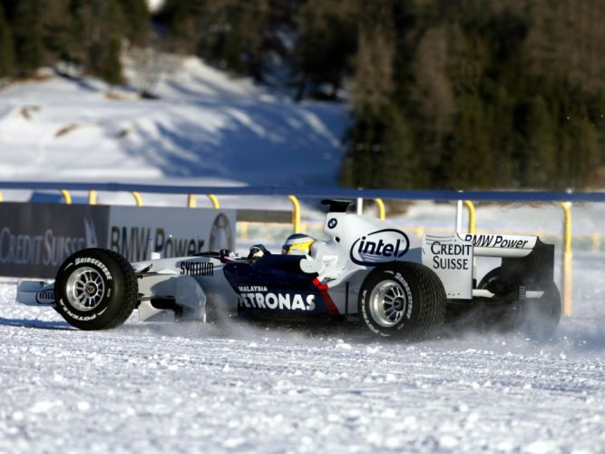 2007 BMW Sauber F1-07 formula one formula-1 f-1 race racing snow winter wallpaper