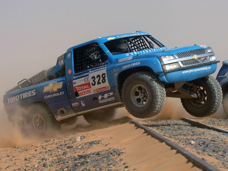 2007 Chevrolet Silverado Trophy Truck offroad 4x4 race racing pickup f wallpaper