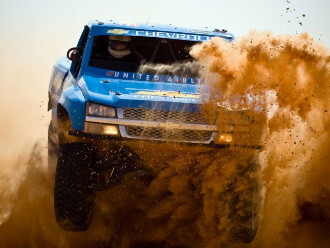 2007 Chevrolet Silverado Trophy Truck offroad 4x4 race racing pickup wallpaper