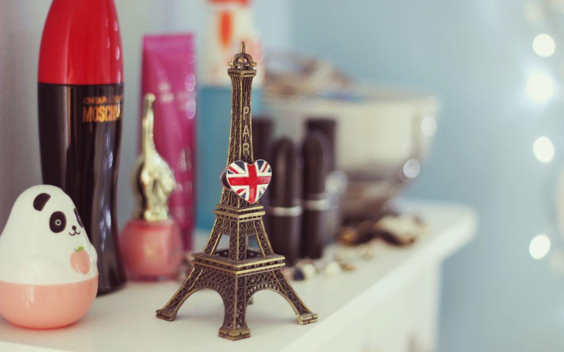 figurine mood Eiffel Tower bokeh paris wallpaper