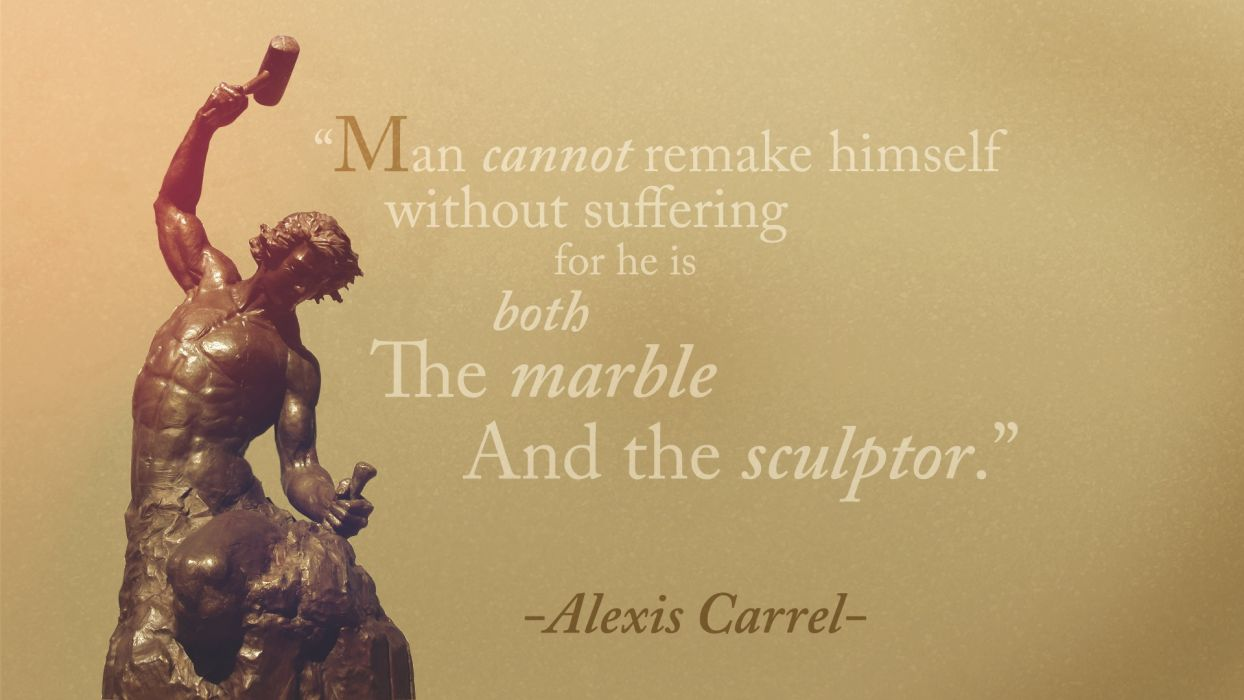 Alexis Carrel Man Suffering Remake Sculptor bokeh wallpaper