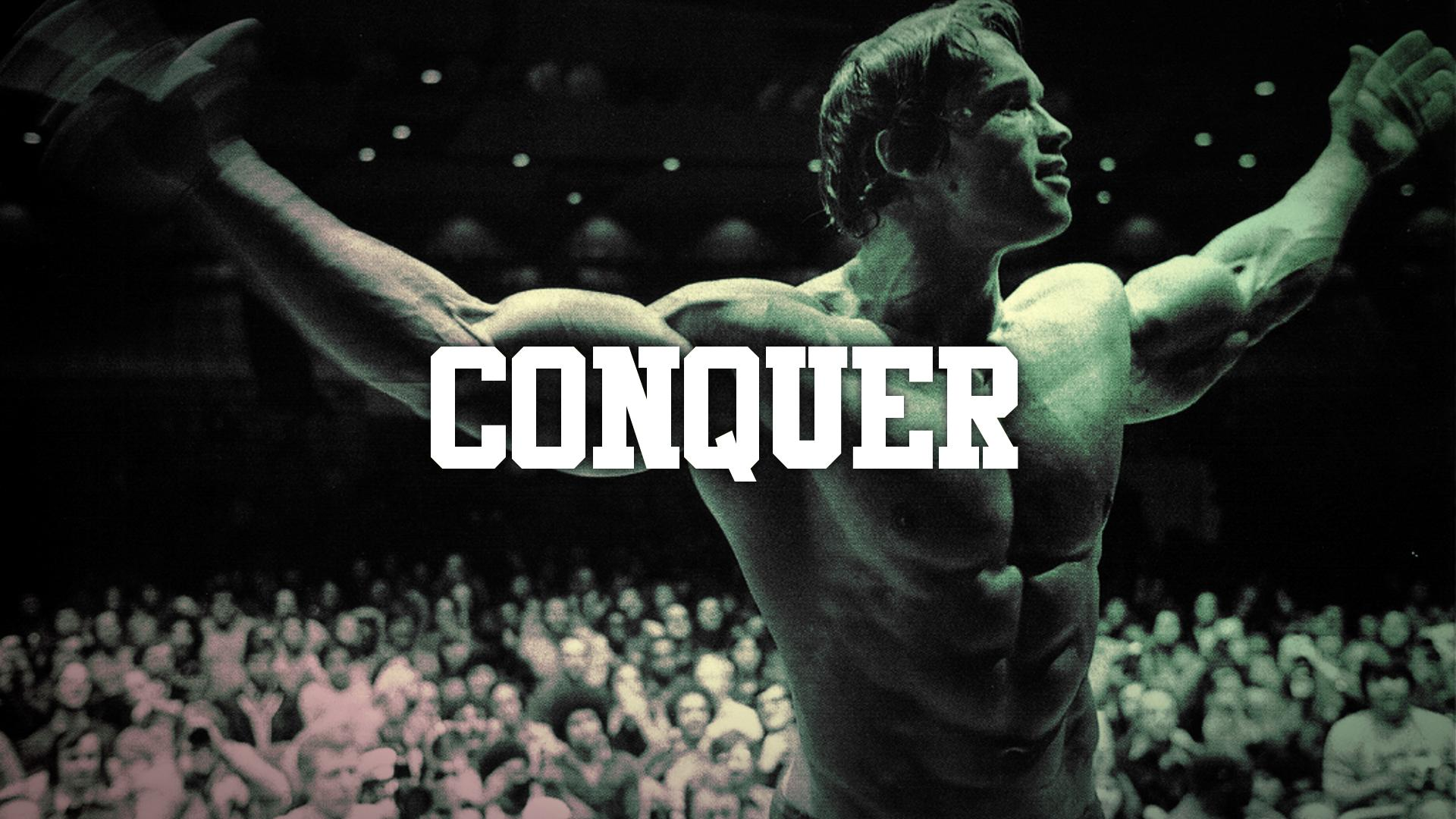 Arnold Schwarzenegger Conquer Muscle Bodybuilding wallpaper backgroundArnold Schwarzenegger Bodybuilding Quotes Wallpaper