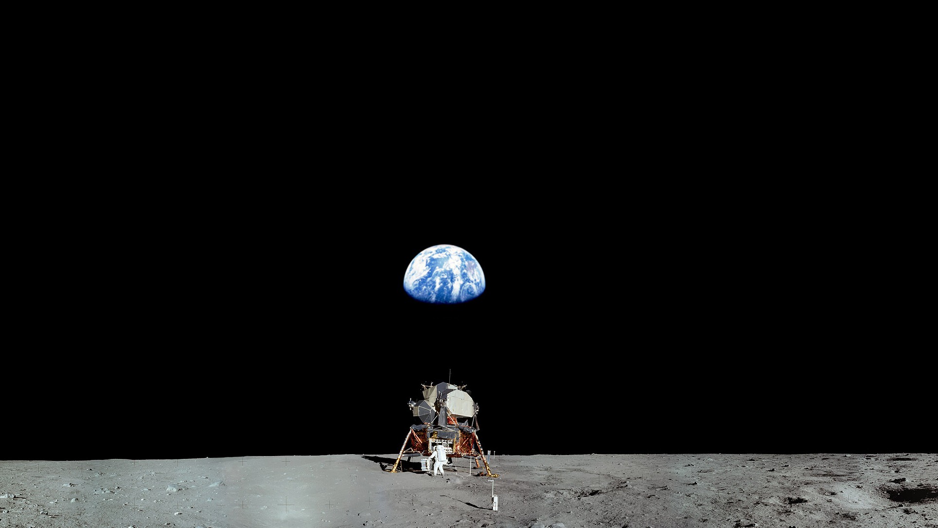 astronaut on moon earth background - photo #1
