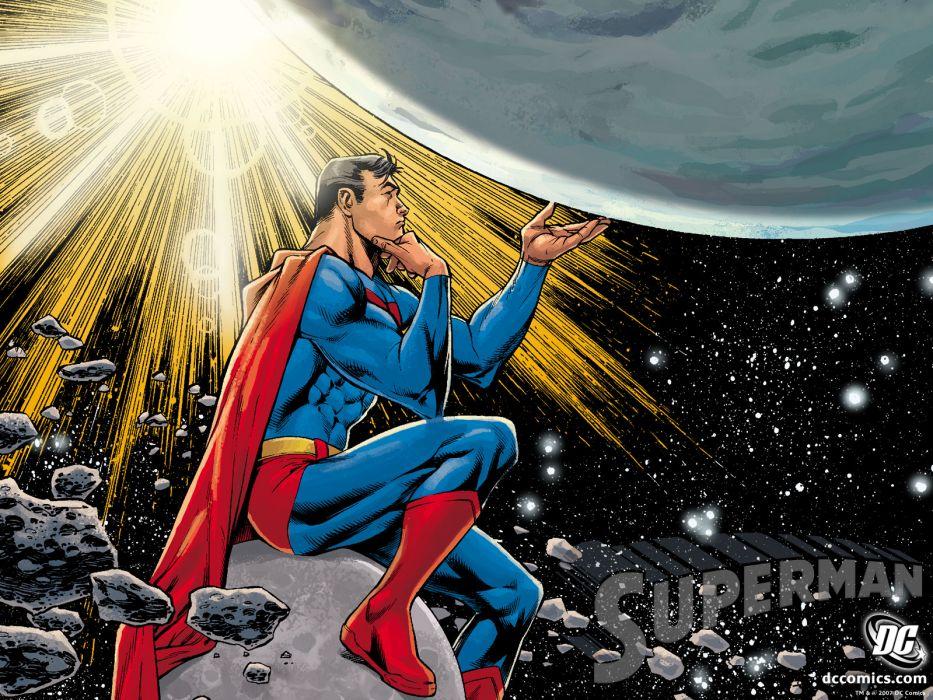 Superman D-C Starlight Think dc-comics space planet planets superhero wallpaper