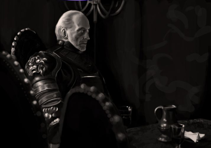 Game of Thrones Tywin Lannister Charles Dance Drawing B-W fantasy sci-fi wallpaper