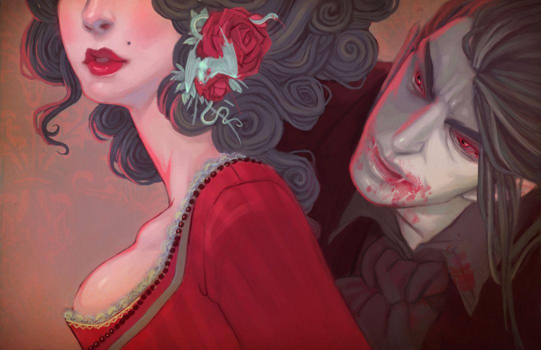 vampires men blood fantasy girls vampire dark undead women
