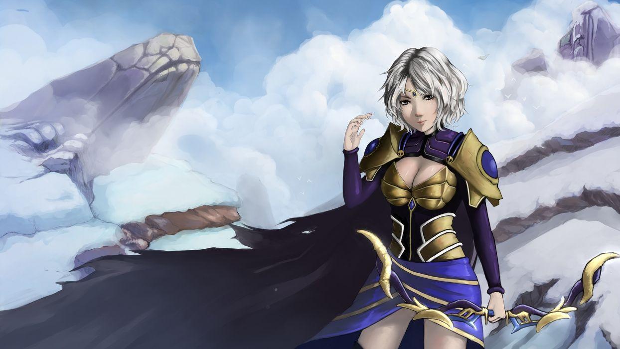League of Legends Archers Warriors Games Girls warrior fantasy wallpaper
