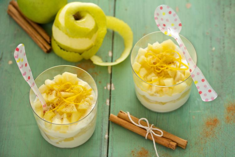 ricotta apples cinnamon dessert wallpaper