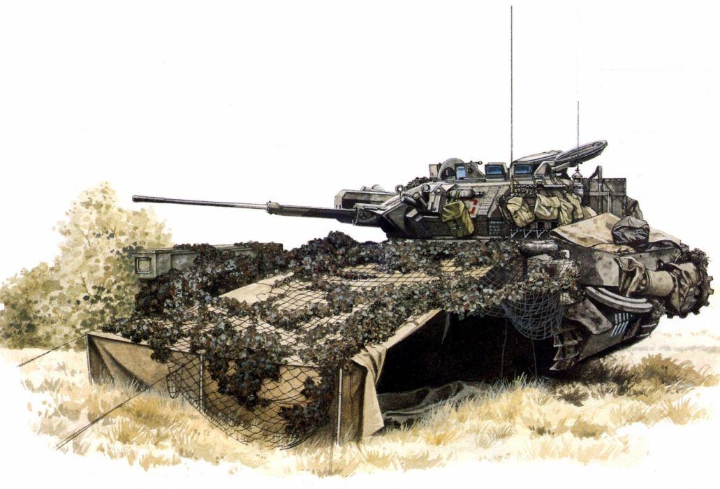 Tanks Painting Art Scorpion Army tank military wallpaper