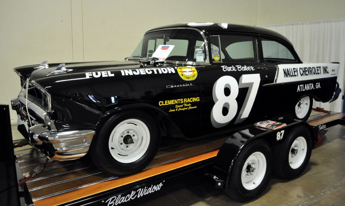 1957 Chevrolet Bel Air retro muscle hot rod rods custom race racing    f_JPG wallpaper