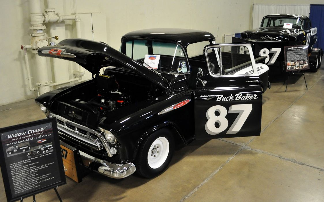 1957 Chevrolet Truck retro muscle hot rod rods custom race racing pickup f_JPG wallpaper