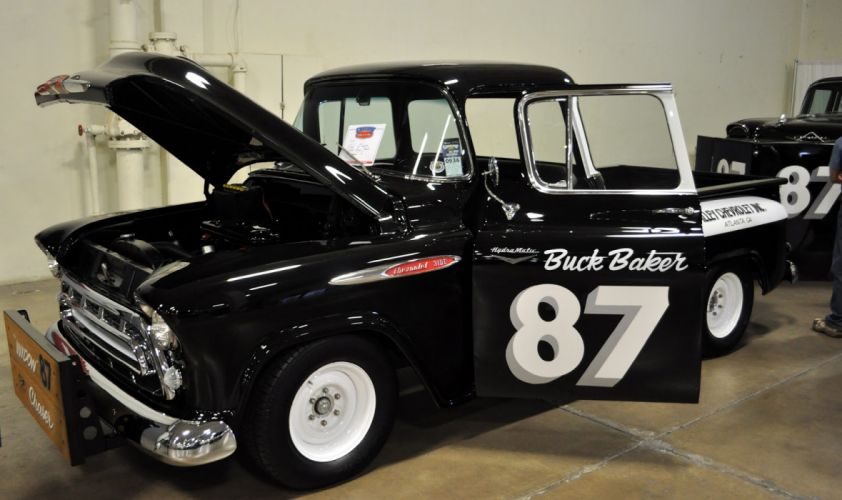 1957 Chevrolet Truck retro muscle hot rod rods custom race racing pickup_JPG wallpaper