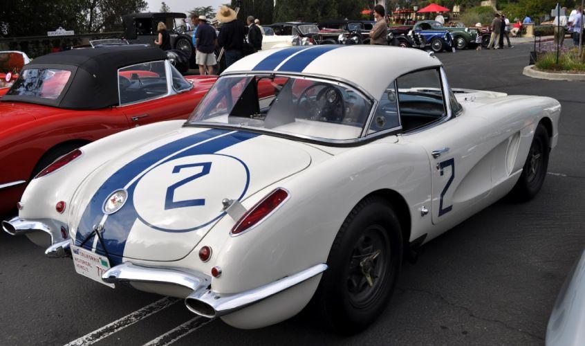 1960 Chevrolet Corvette Le-mans supercar supercars muscle race racing classic gd_JPG wallpaper