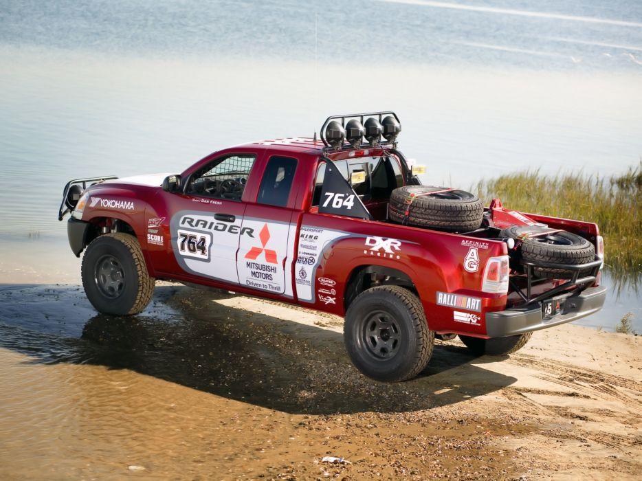 2006 Mitsubishi Raider Baja race racing truck pickup offroad wallpaper