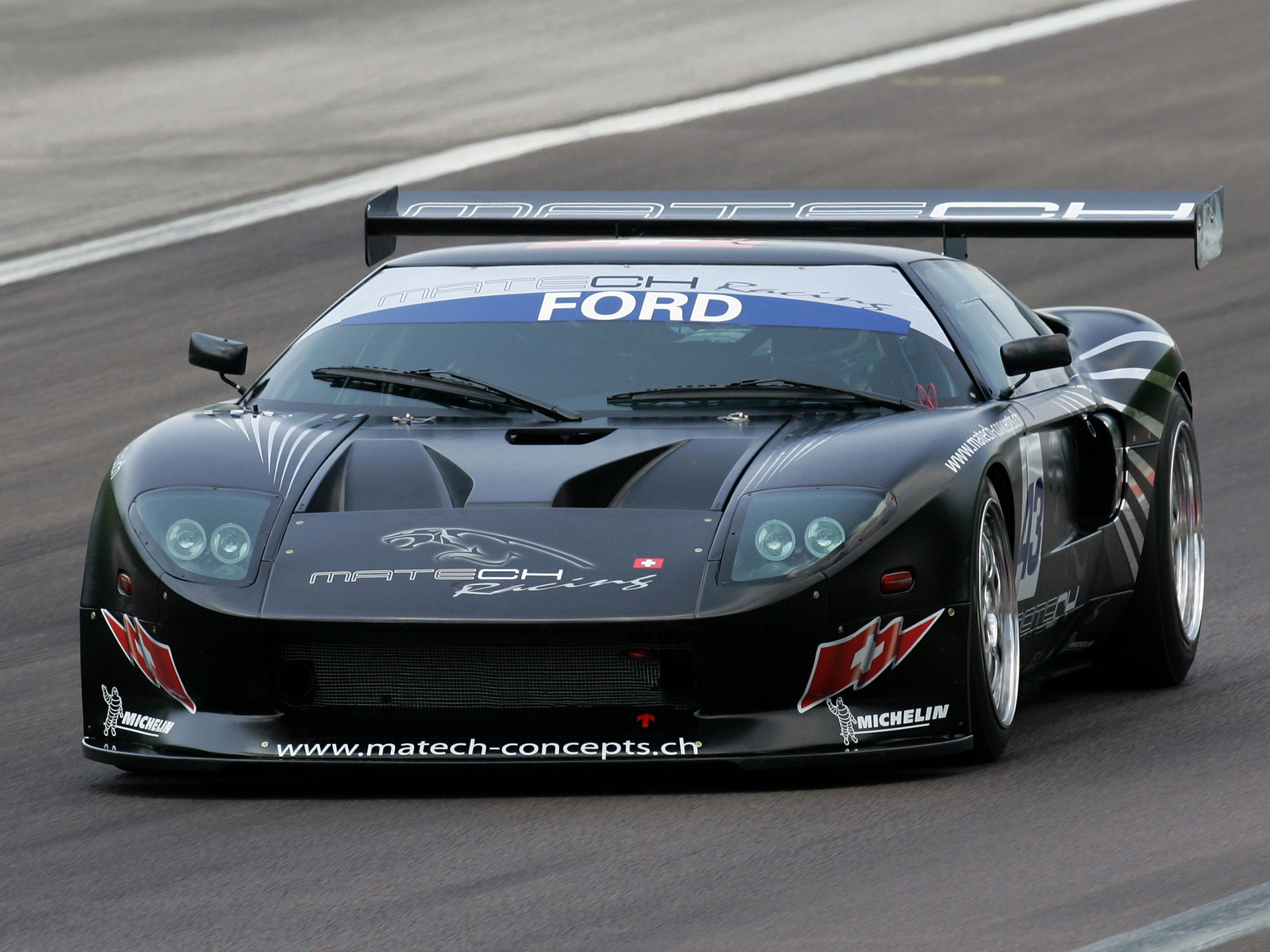 2007 Matech Racing Ford GT supercar supercars race racing fordgt