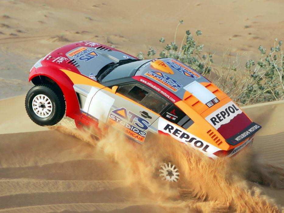 2005 Mitsubishi Pajero Montero Evolution Dakar offroad awd race racing wallpaper