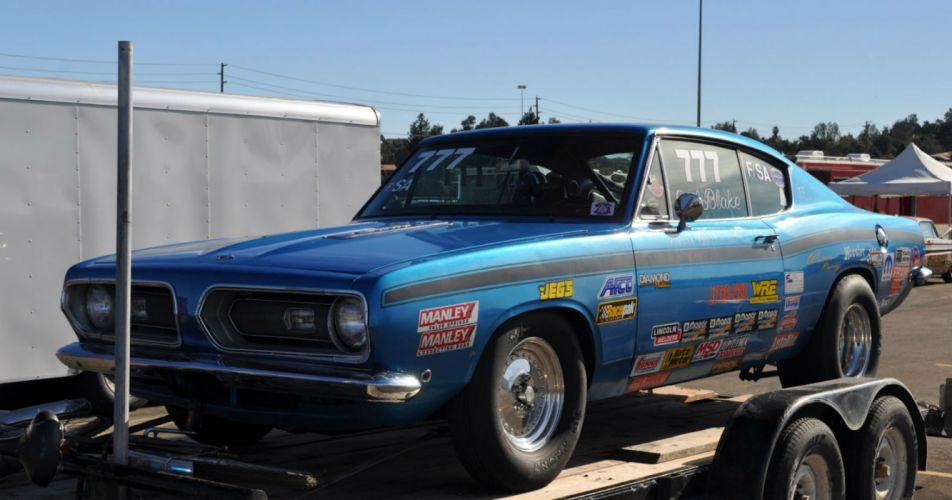 plymouth cuda drag racing race hot rod rods muscle classic wallpaper