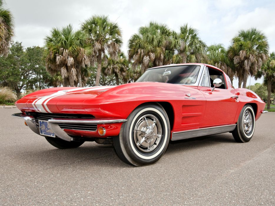 1963 Chevrolet Corvette Sting Ray Z06 C-2 classic muscle supercar supercars    g wallpaper