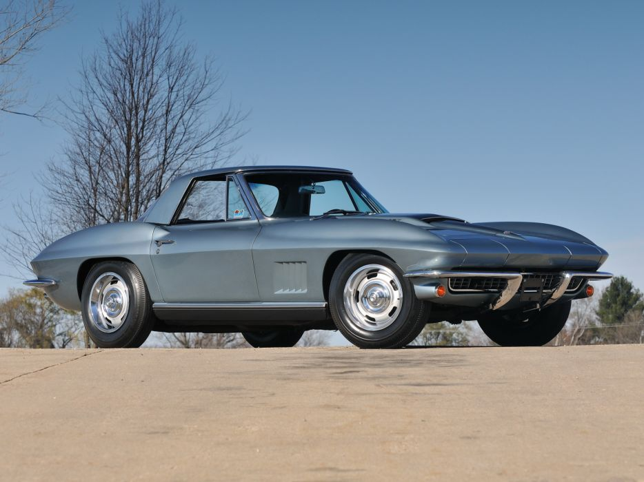 1967 Chevrolet Corvette Sting Ray 427 Convertible C-2 supercar supercars classic muscle    g wallpaper