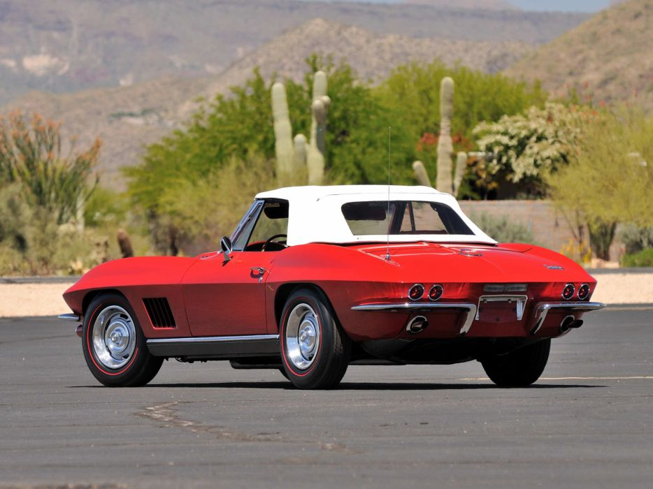 1967 Chevrolet Corvette Sting Ray 427 Convertible C-2 supercar supercars classic muscle  f wallpaper