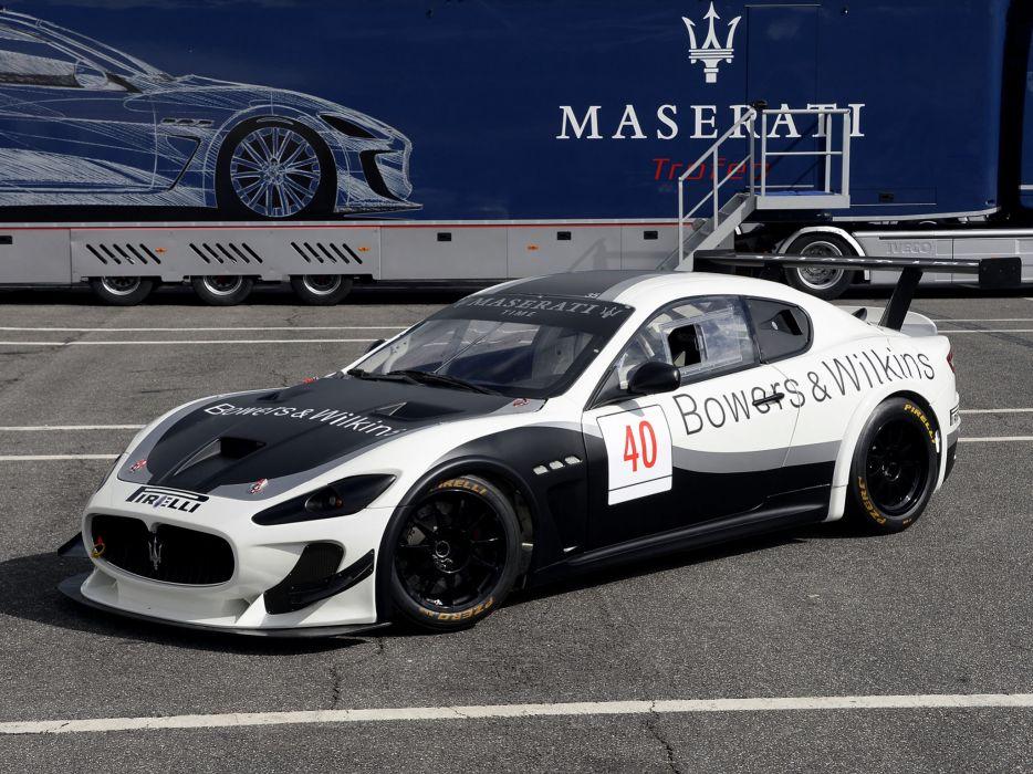 2012 Maserati GranTurismo M-C Trofeo race racing      f wallpaper