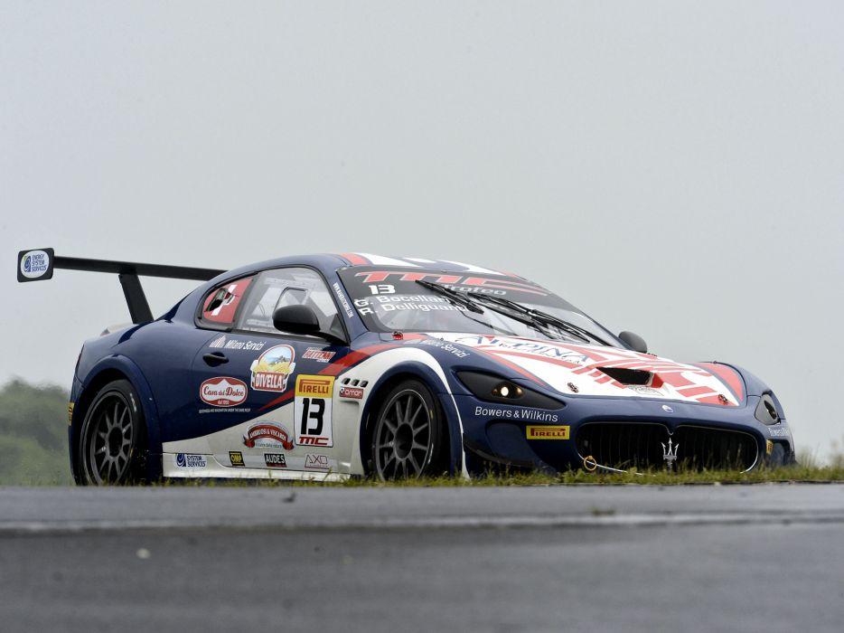 2012 Maserati GranTurismo M-C Trofeo race racing    h wallpaper