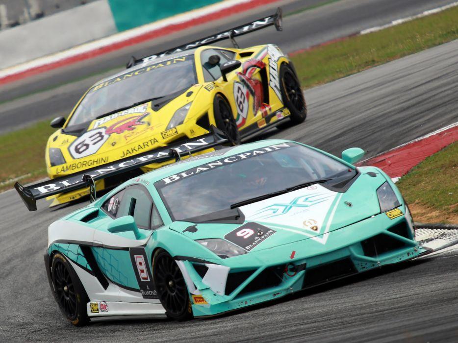 2013 Lamborghini Gallardo LP570-4 Super Trofeo supercar supercars race racing  g wallpaper