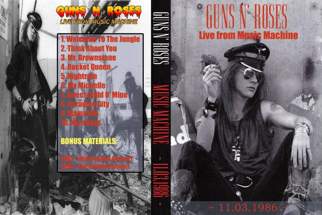 Guns N Roses heavy metal cover wallpaper