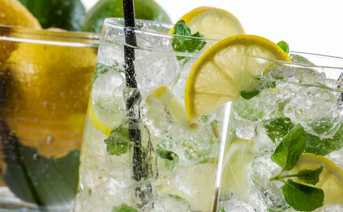 mojito cocktail lemon ice beverage wallpaper