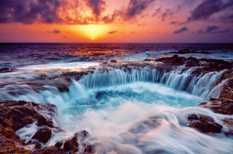 sea sunset stones wallpaper