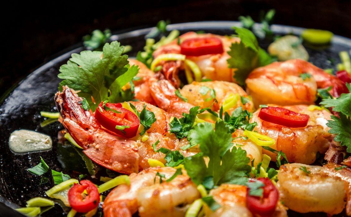 shrimp pepper parsley wallpaper