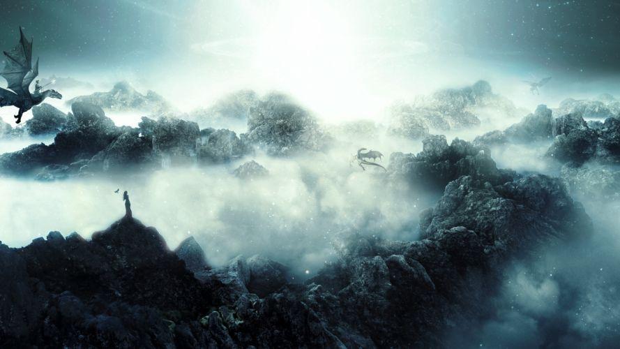 Dragons Mist Fog Dragon Wallpaper  1920x1080 128116 WallpaperUP
