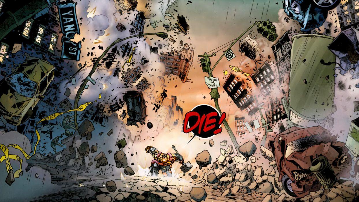 Fear Itself Marvel Thing Debris Destroyed wallpaper