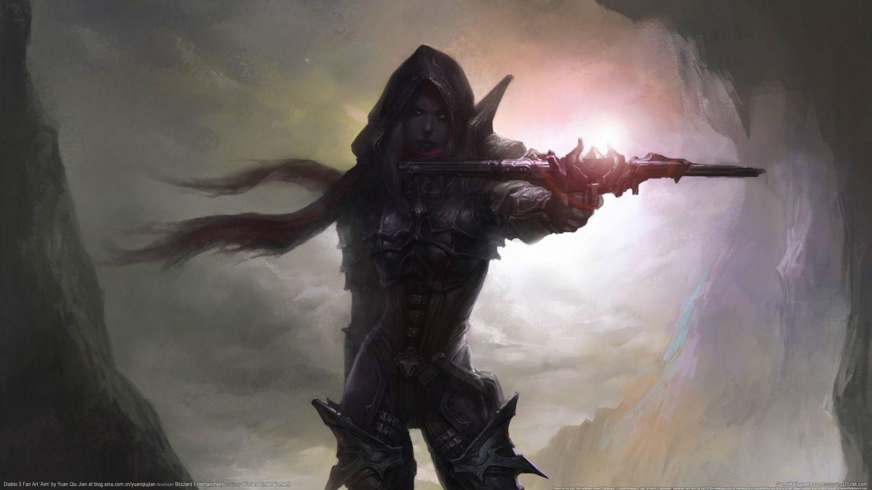 Diablo Drawing fantasy wallpaper