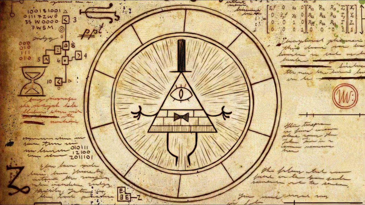 Gravity Falls Illuminati Disney Cartoon science wallpaper