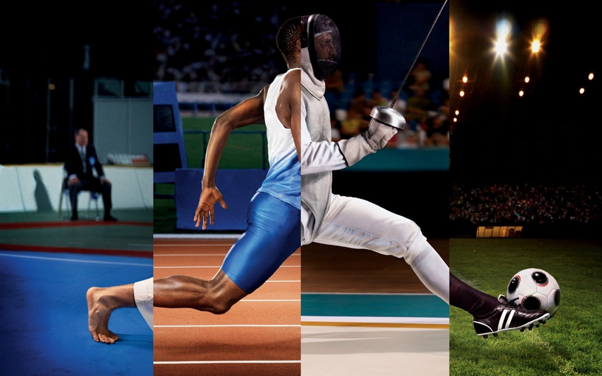 FIGHTING RUNNING FOOTBALL Fencing Soccer Track Wallpaper