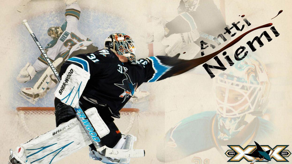 hockey Antti Niemi San Jose Sharks wallpaper