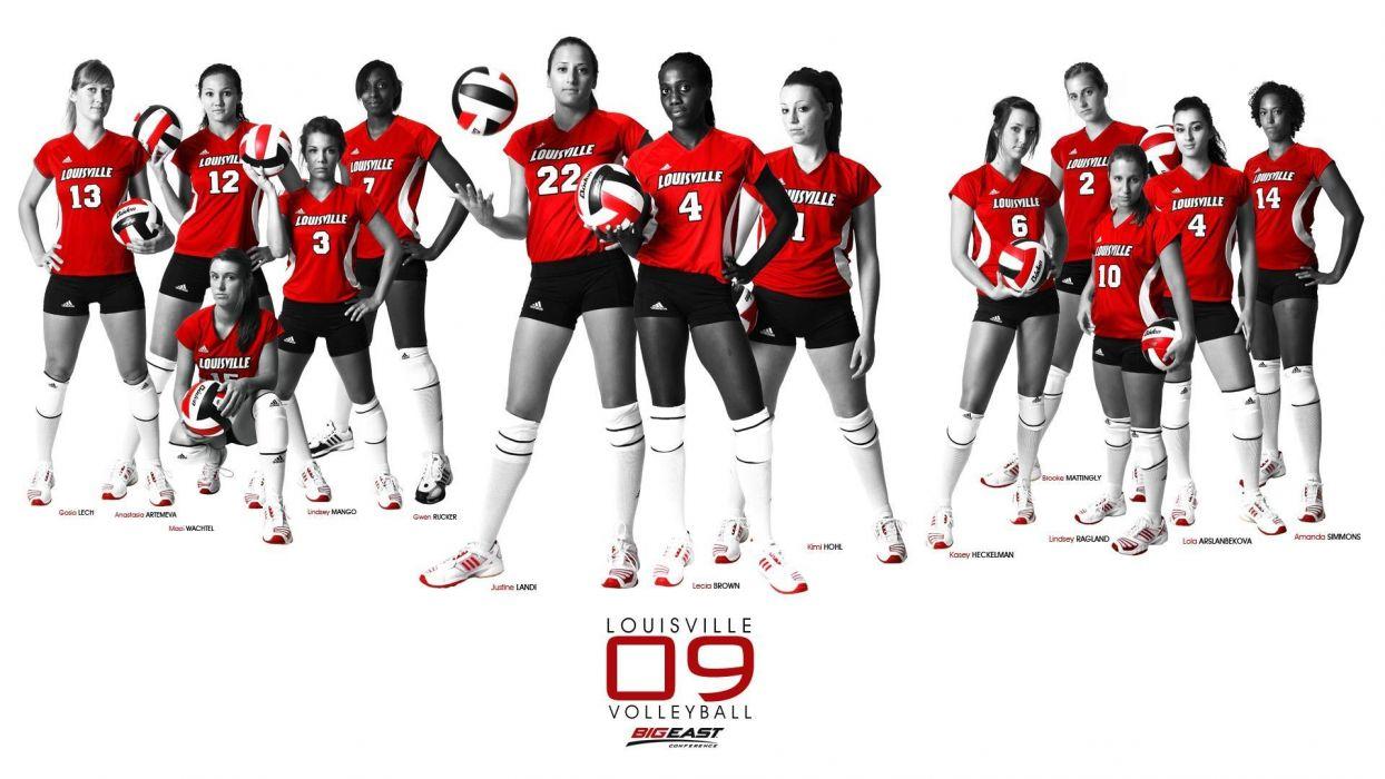 volleyball college LOUISVILLE wallpaper