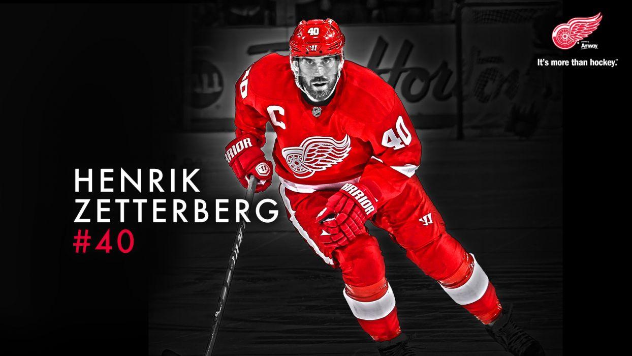 Hockey Henrik Zetterberg Detroit Red Wings Wallpaper