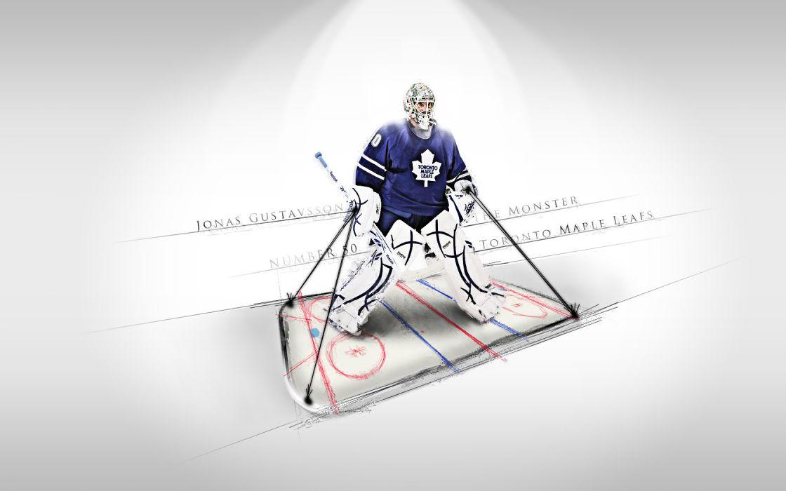 hockey Jonas Gustavsson Toronto Maple Leafs wallpaper