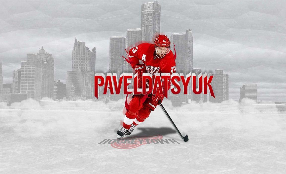 Hockey Pavel Datsyuk Detroit Red Wings Wallpaper 1600x972