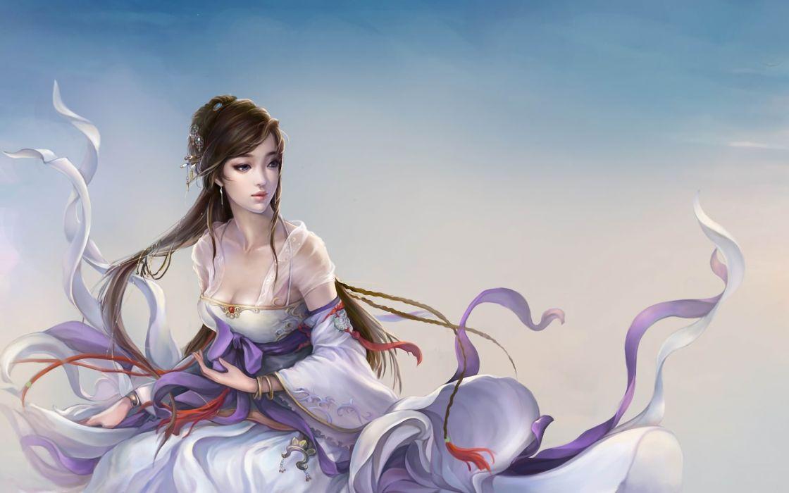 Fantasy Girl Fairy Brunette Girls Wallpaper