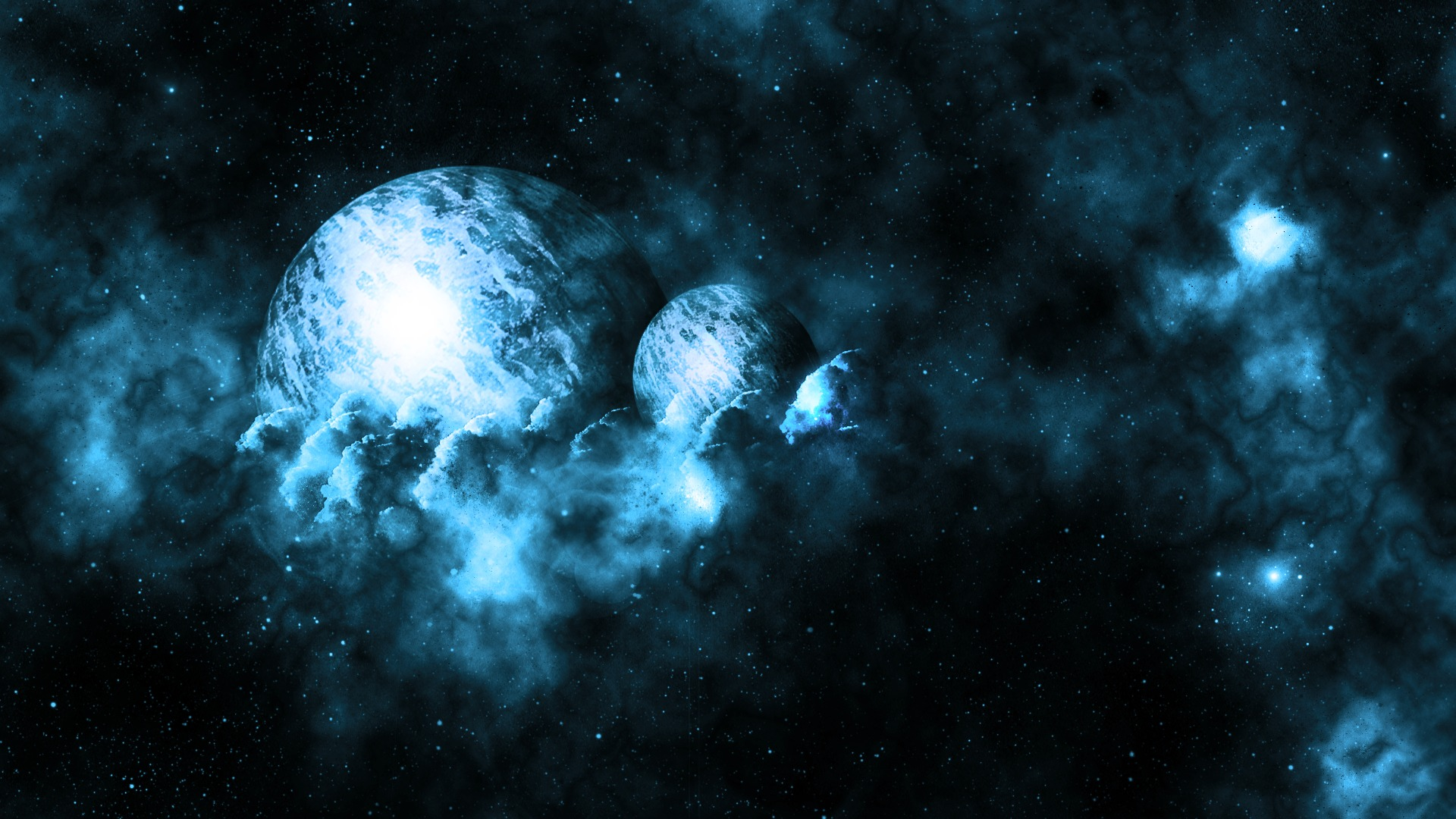 Space planets planet nebula stars wallpaper | 1920x1080 ...