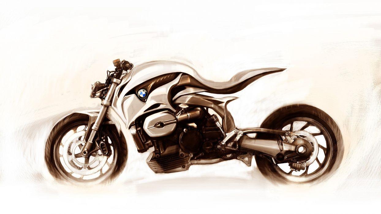 Bmw Drawing Motorbike Concet Superbike Wallpaper 1920x1080 129271 Wallpaperup
