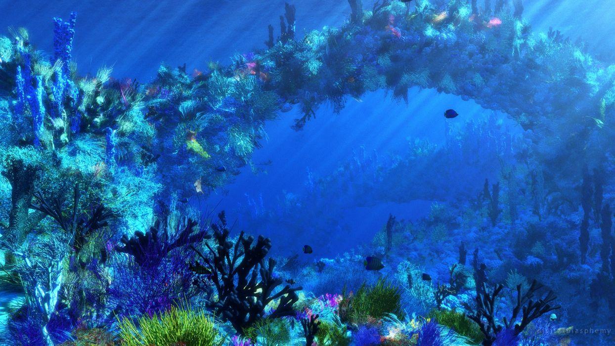 Ocean Tropical Fish Underwater Wallpaper