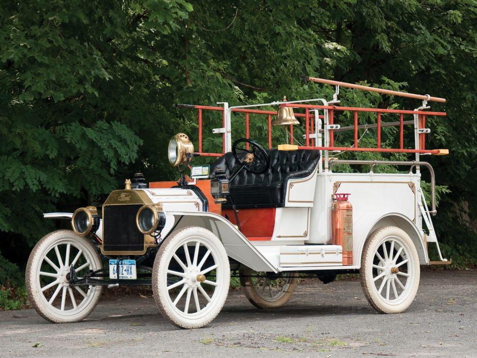 1913 Ford Model-T Firetruck retro wallpaper