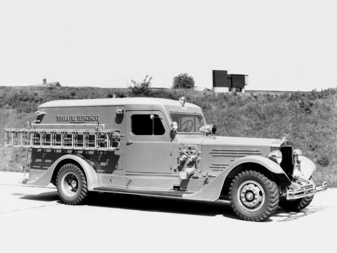 1935 American LaFrance Senior 412 RW-PWT firetruck retro wallpaper